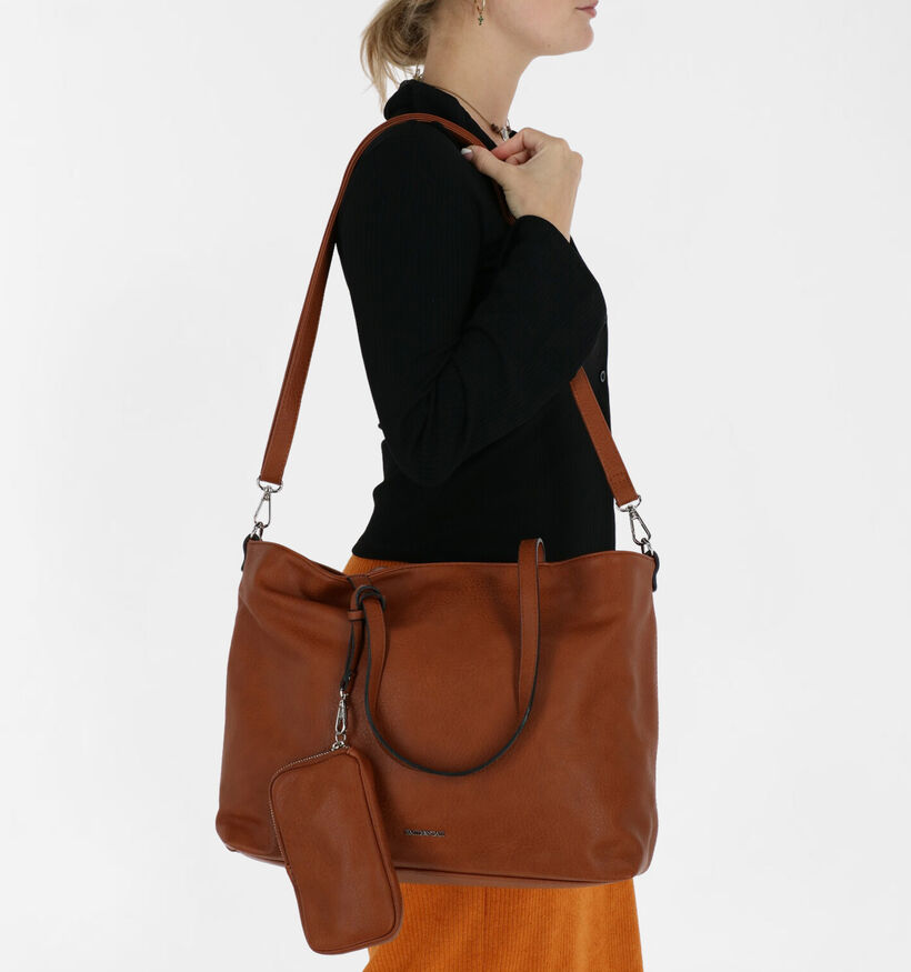 Emily & Noah Zwarte Bag in bag Shopper in kunstleer (282183)