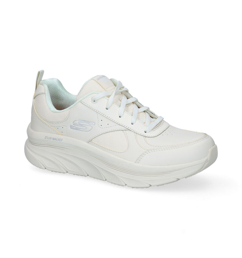 Skechers D'Lux Walker Tim Ecru Sneakers in kunstleer (295680)