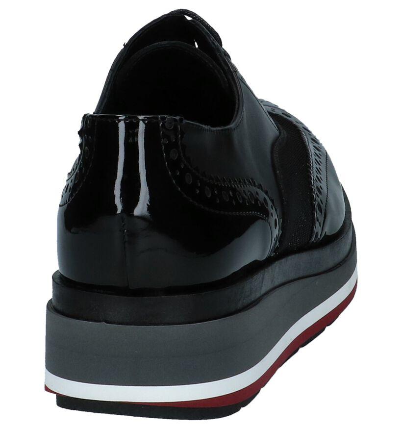 Hampton Bays Chaussures à lacets en Noir en cuir (223785)