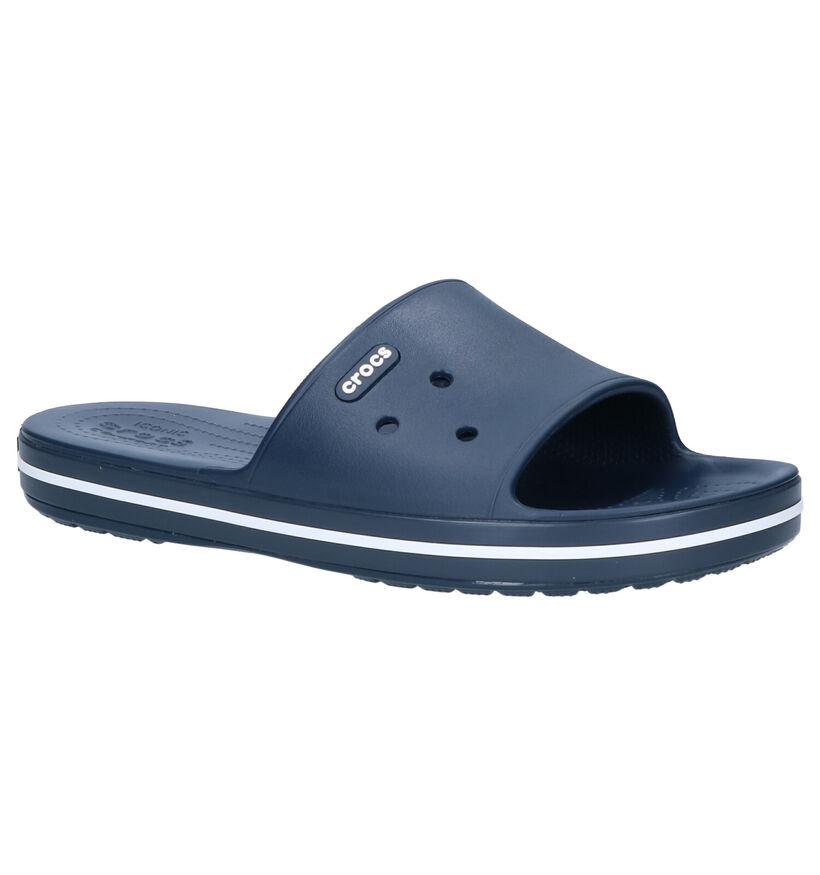 Crocs Crocband Slide Blauwe Slippers in kunststof (270734)