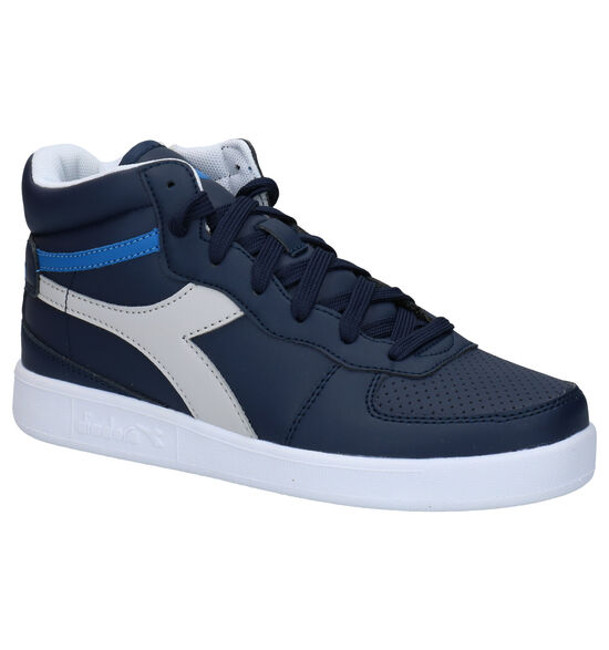 Diadora Playground Blauwe Hoge Sneakers