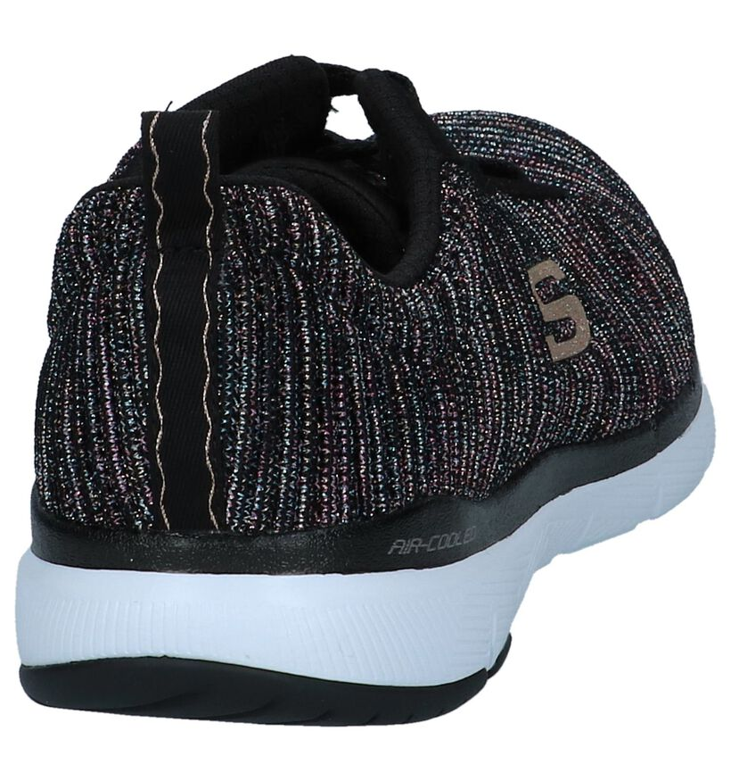 Skechers Flex Appeal Baskets basses en Noir en textile (240437)