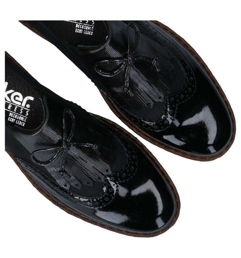 Rieker Chaussures slip-on en Noir en cuir (277631)