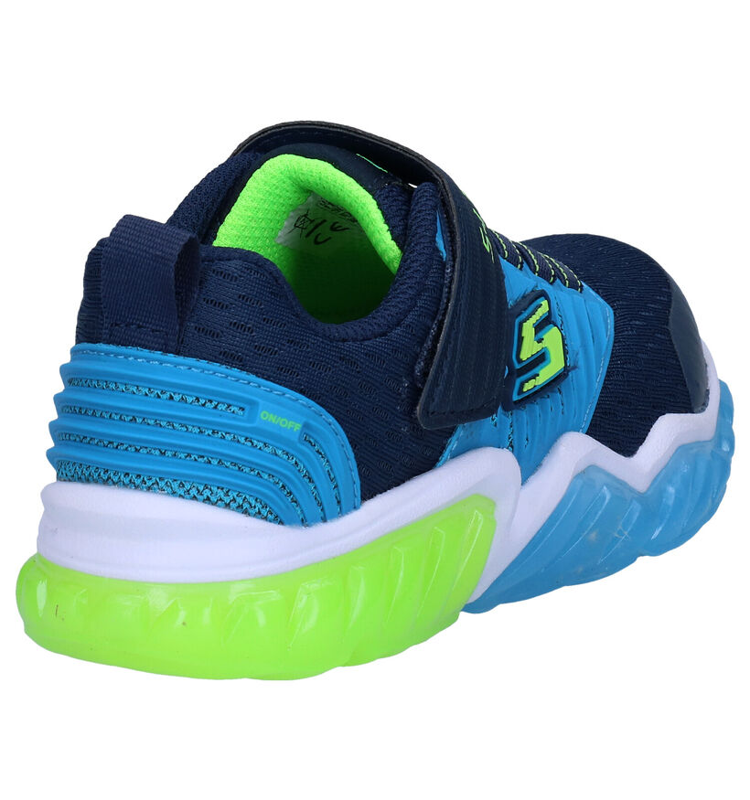 Skechers S Lights Blauwe Sneakers in kunstleer (277919)