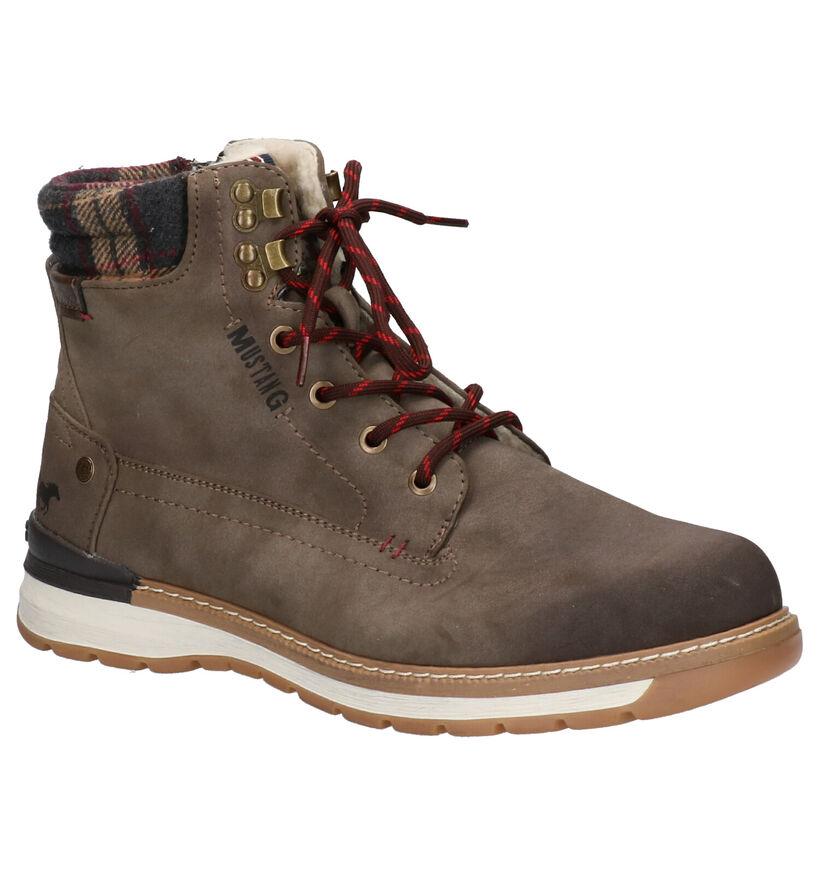 Mustang Grijze Boots in kunstleer (260332)