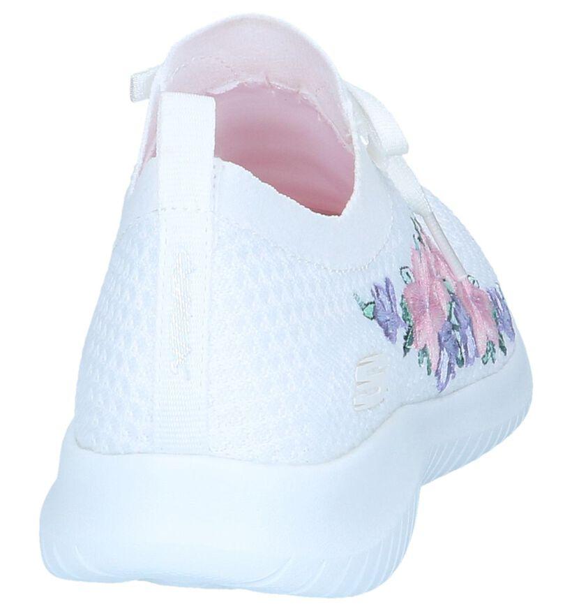 Skechers Memory Foam Baskets slip-on en Blanc en textile (251989)