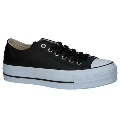 Zwarte Sportieve Sneakers Converse Chuck Taylor All Star in leer (233389)