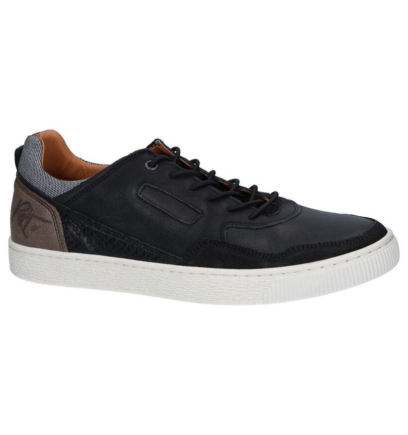 Zwarte Lage Sneakers Bullboxer in daim (256298)