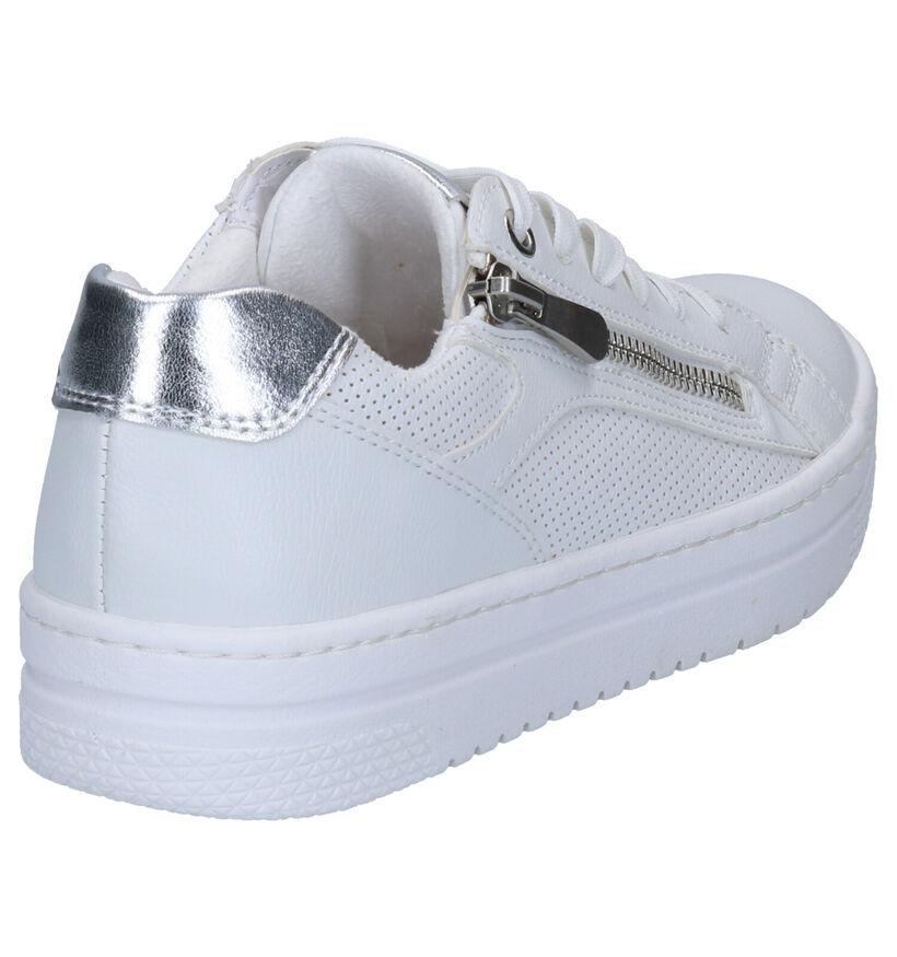 Marco Tozzi Chaussures à lacets en Blanc en simili cuir (270662)