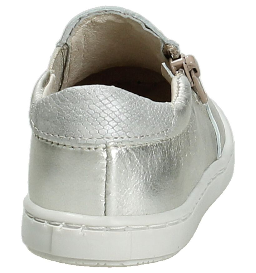 Nörvik Baskets slip-on en Argent en cuir (195410)