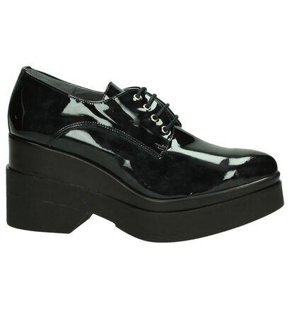 Via Roma Chaussures à lacets en Noir en cuir verni (185585)