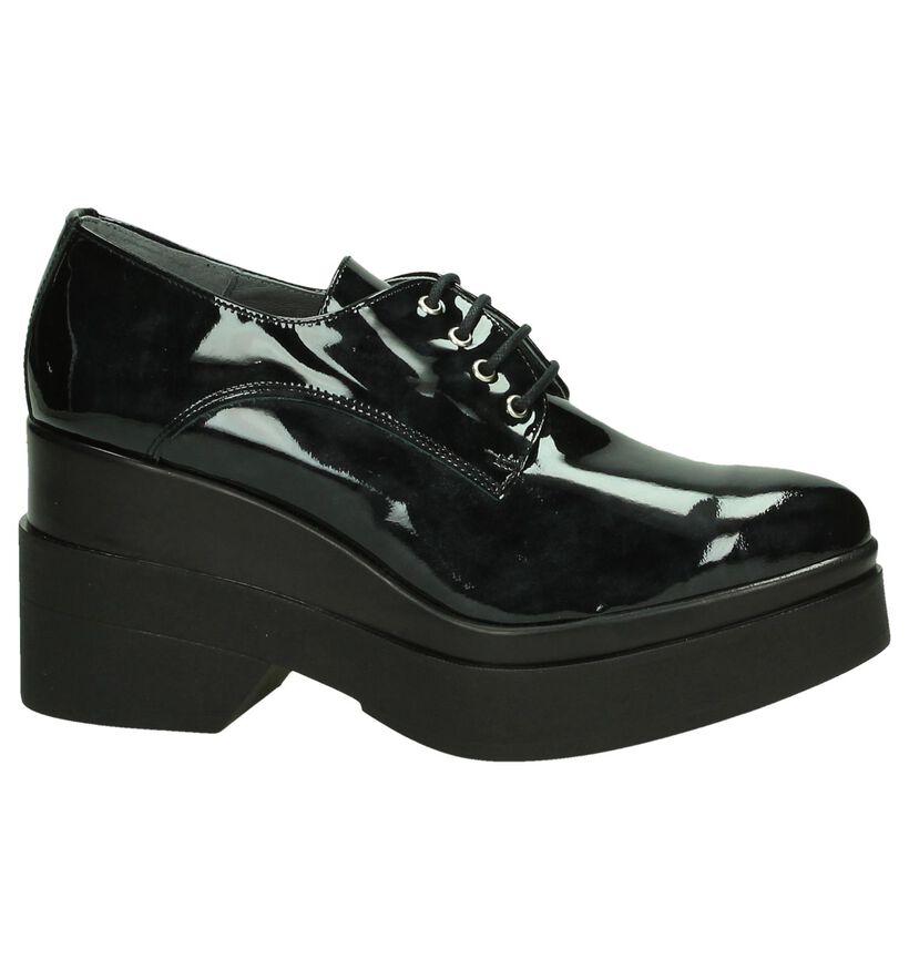 Via Roma Chaussures à lacets en Noir en simili cuir (185585)