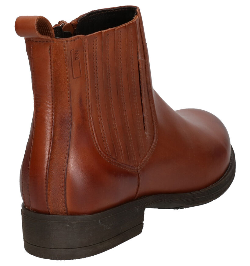River Woods Samira Bottines en Cognac en cuir (260292)