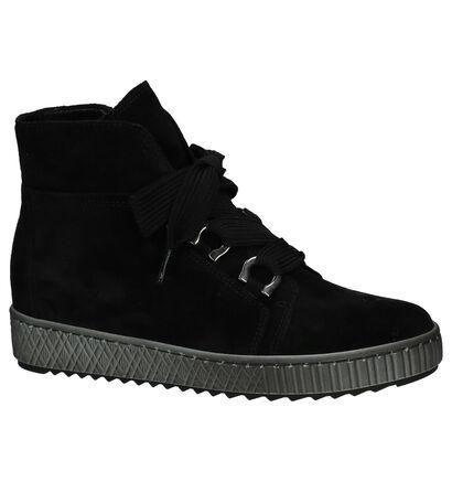 Hoge Sneakers Zwart Gabor in daim (233397)