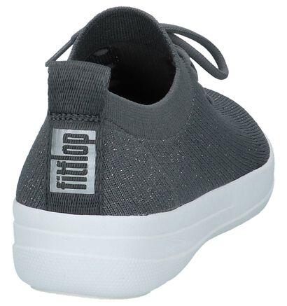 FitFlop F-Sporty Uberknit Sneakers Zwart, Grijs, pdp