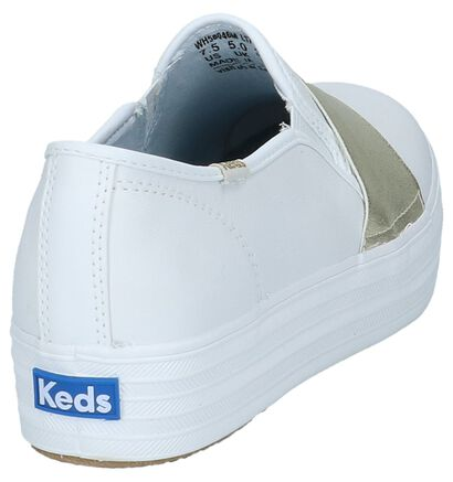 Keds Triple Bandeau Witte Instappers, Wit, pdp