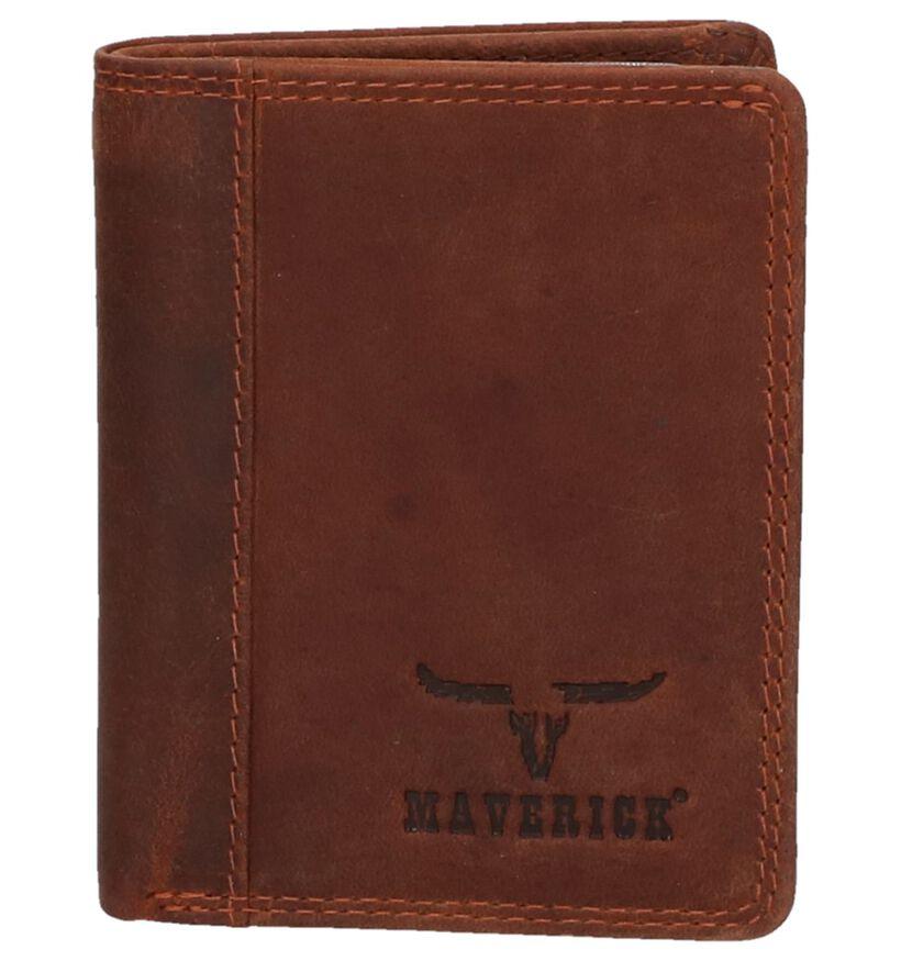 Maverick Porte-cartes en Marron en cuir (274012)