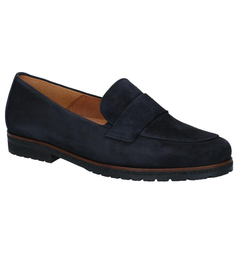 Gabor Easy Walking Blauwe Loafers in daim (283895)