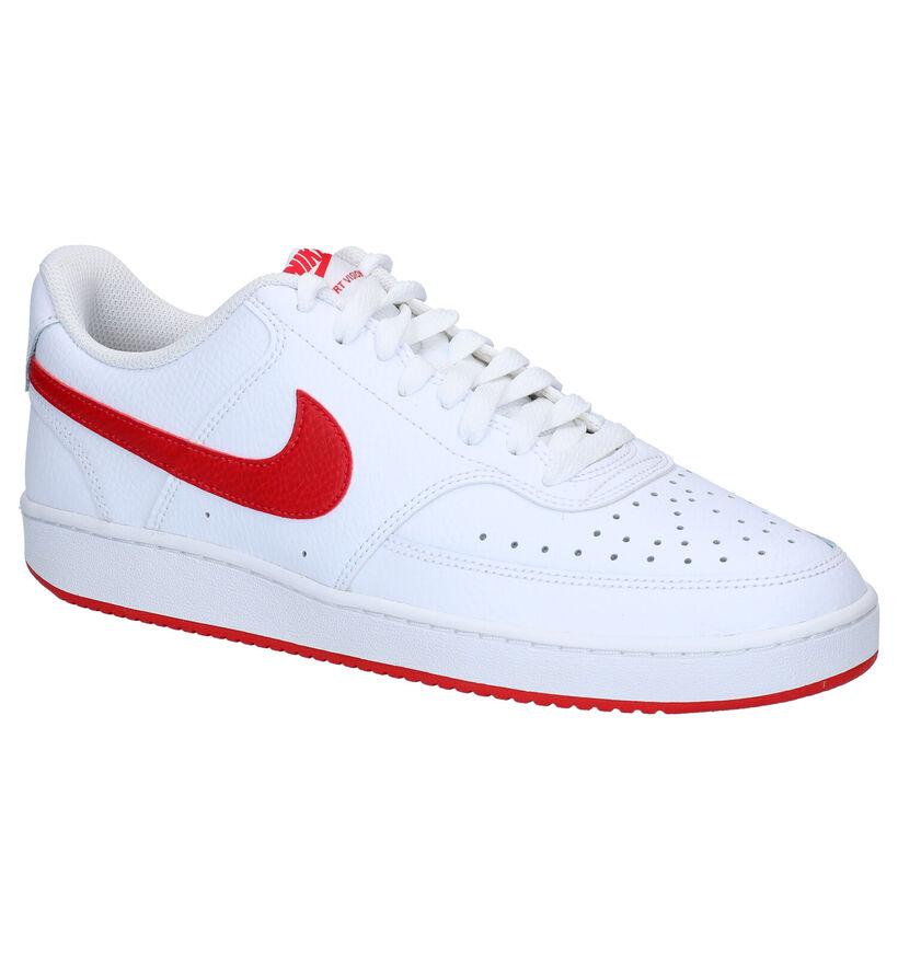 Nike Court Vision Baskets en Blanc en cuir (283891)