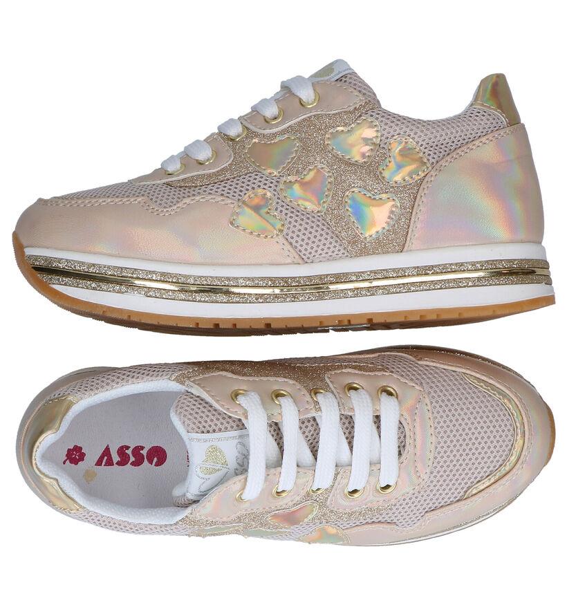 Asso Chaussures basses en Or en textile (289329)