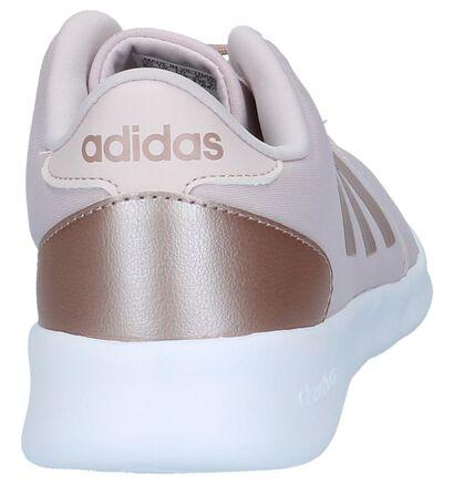 adidas Cloudfoam QT Racer Baskets en Rose en textile (208780)