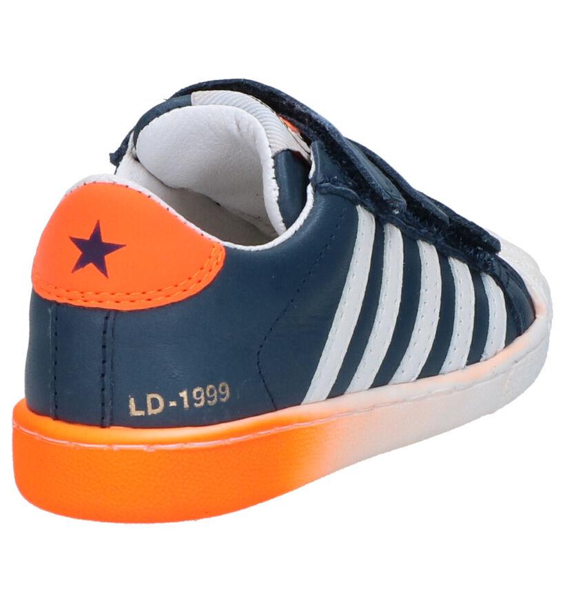 Little David Polo Chaussures à Velcro en Blanc en cuir (273222)