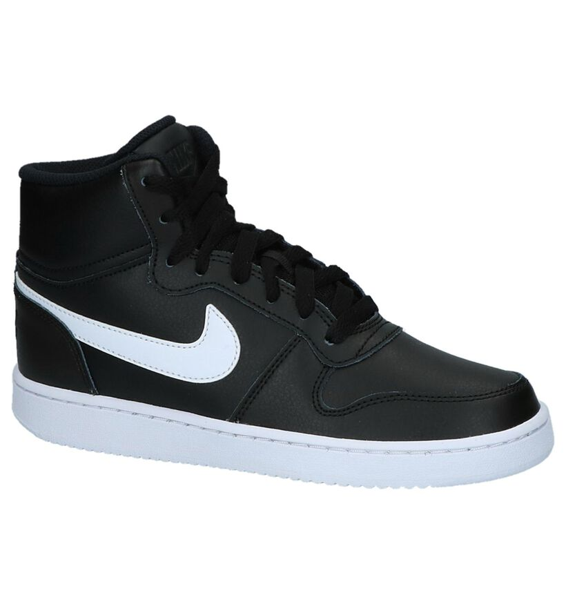 Zwarte Sneakers Nike Ebernon Mid in kunstleer (222192)