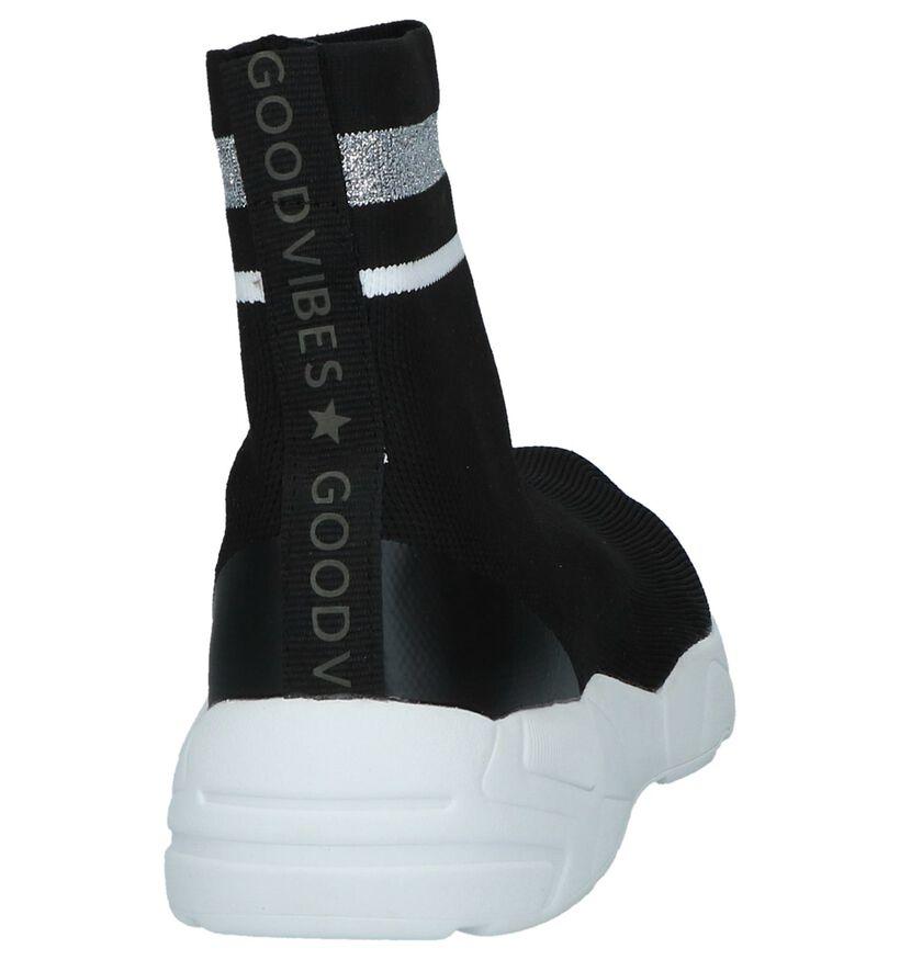 Youh! Denelly Zwarte Slip-on Sneakers in stof (230423)