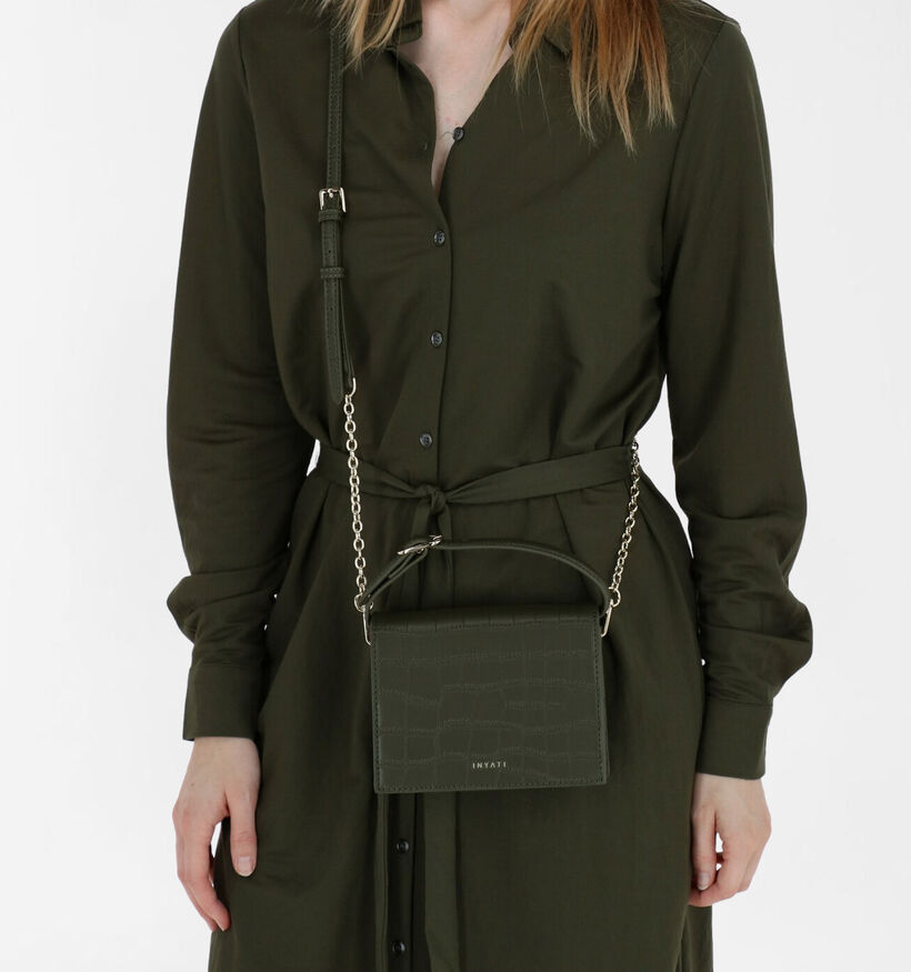 Inyati Ivy Vegan Sac porté croisé en Noir en simili cuir (284060)