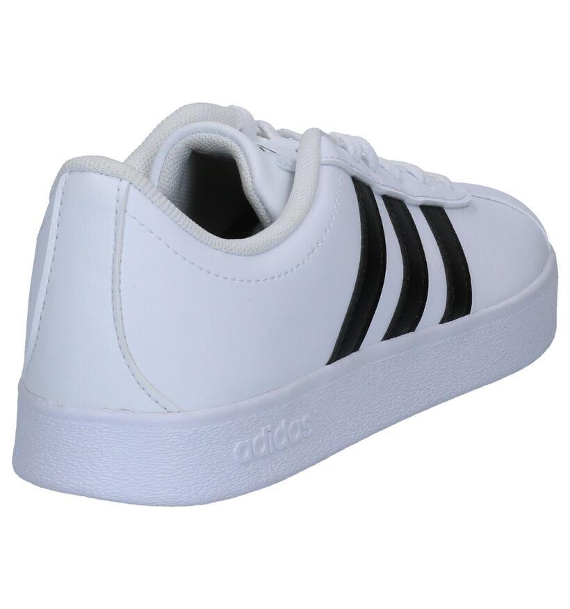 adidas VL Court 2.0 Zwarte Sneakers in kunstleer (264863)