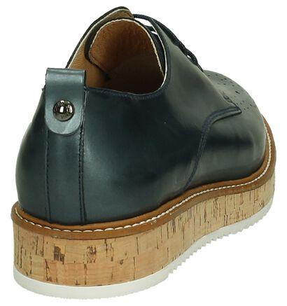 Scapa Chaussures à lacets en Bleu foncé en cuir (194550)