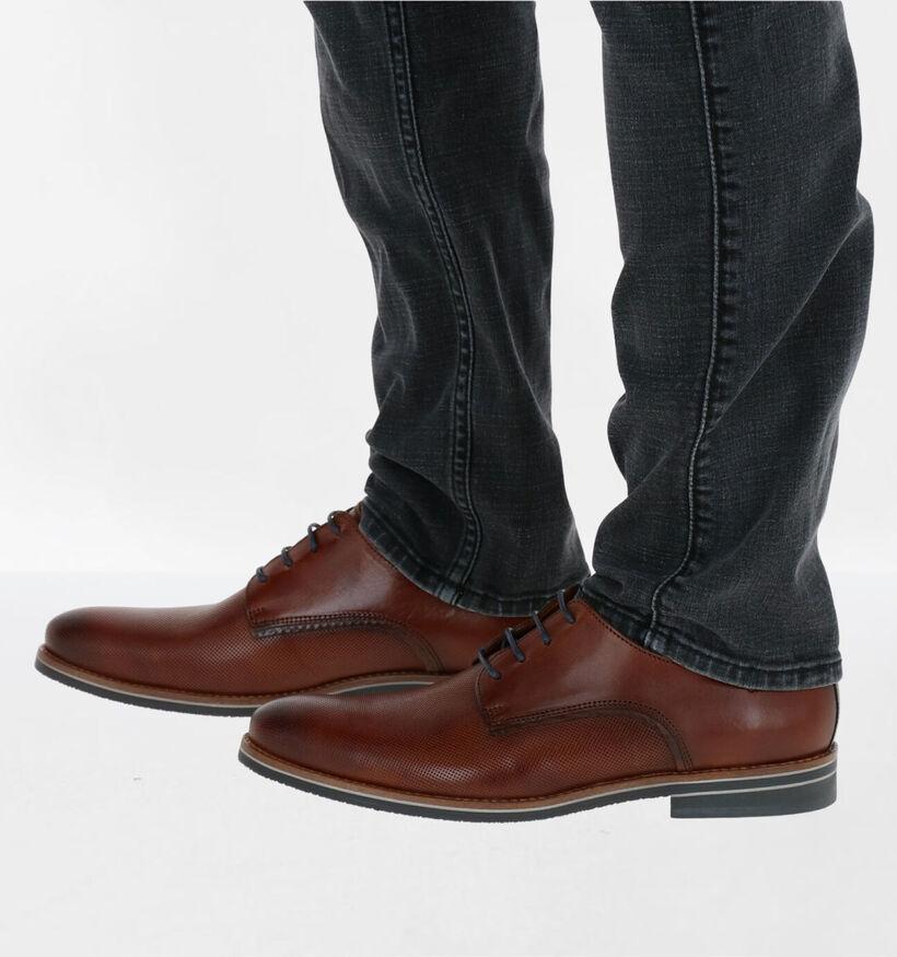 Van Lier Chaussures habillées en Bleu en cuir (283345)
