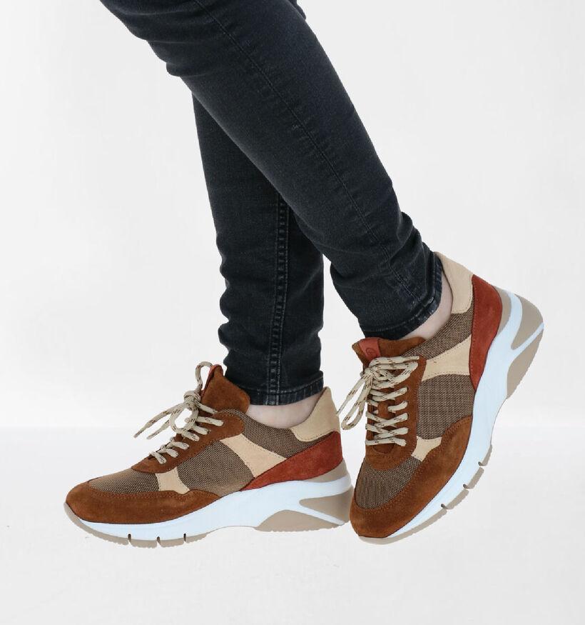 Tamaris Chaussures à lacets en Cognac en daim (278718)