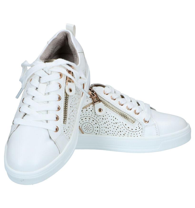 Milo & Mila Chaussures basses en Blanc en simili cuir (289343)