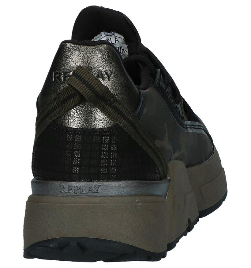 Replay Baskets slip-on en Vert foncé en textile (231604)