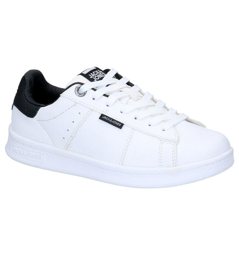 Jack & Jones JR Banna Pu Witte Sneakers in kunstleer (279190)