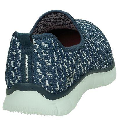 Blauwe Slip-On Sneakers Skechers in stof (192936)