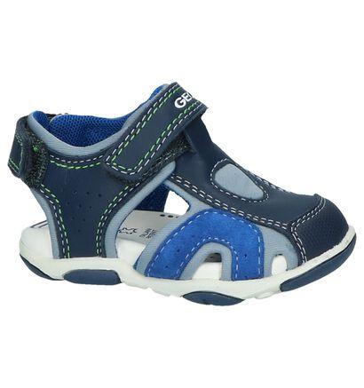 Geox Sandales en Bleu foncé en cuir (245013)