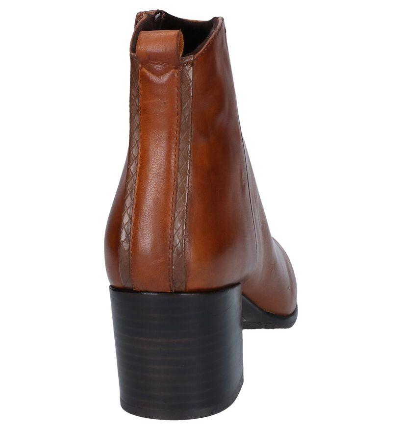 Cognac Enkellaarzen SPM in kunstleer (257779)