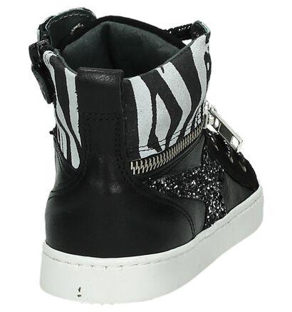 Ghost Rockers Chaussures à fermeture à glissière et lacets  (Noir), Noir, pdp