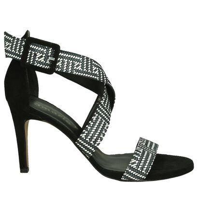 Zwart/Witte High Heels Sandaal Tamaris, Zwart, pdp