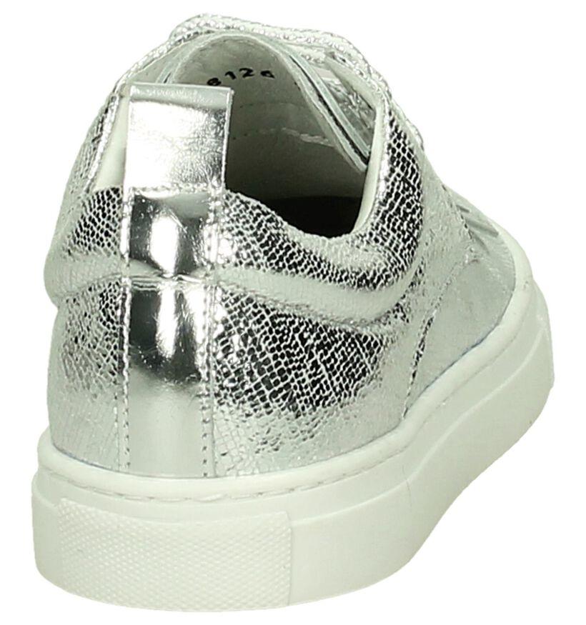 Hampton Bays Zilveren Sneakers in leer (192238)