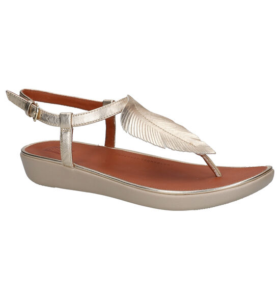 FitFlop Tia Feather Sandales en or