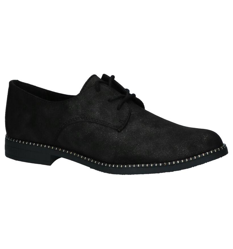 Youh! Chaussures à lacets en Noir en textile (230417)