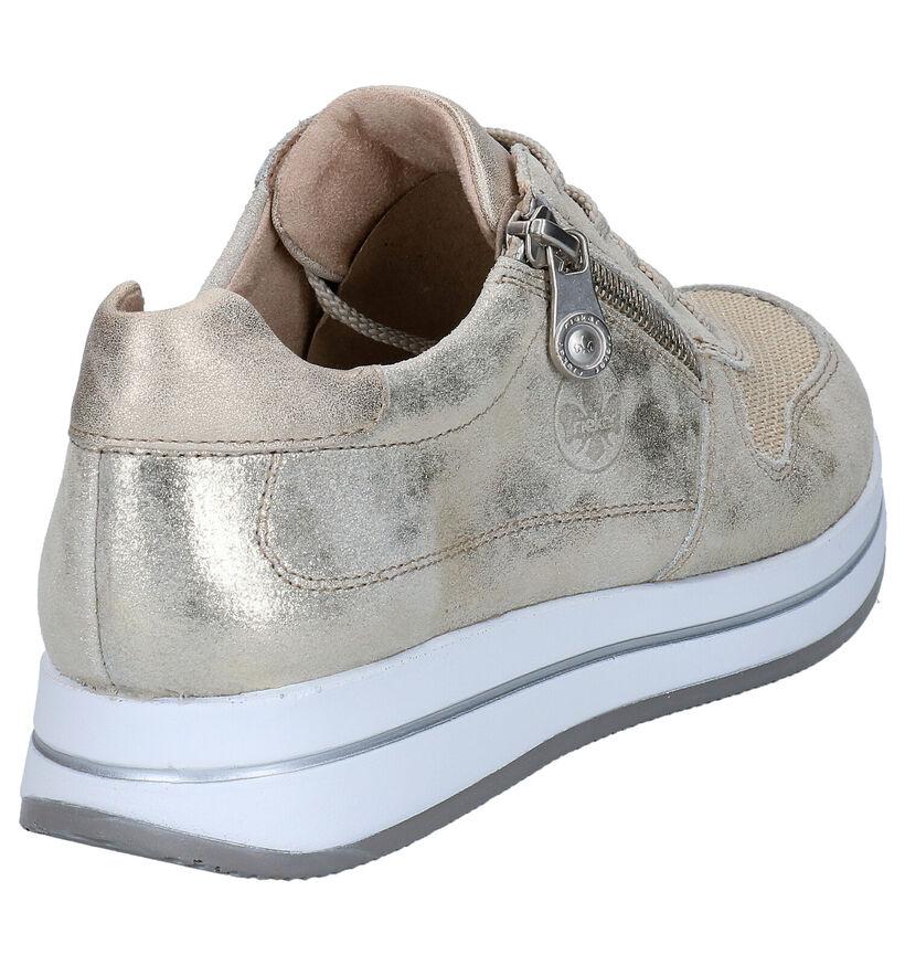 Rieker Chaussures à lacets en Beige en textile (271868)