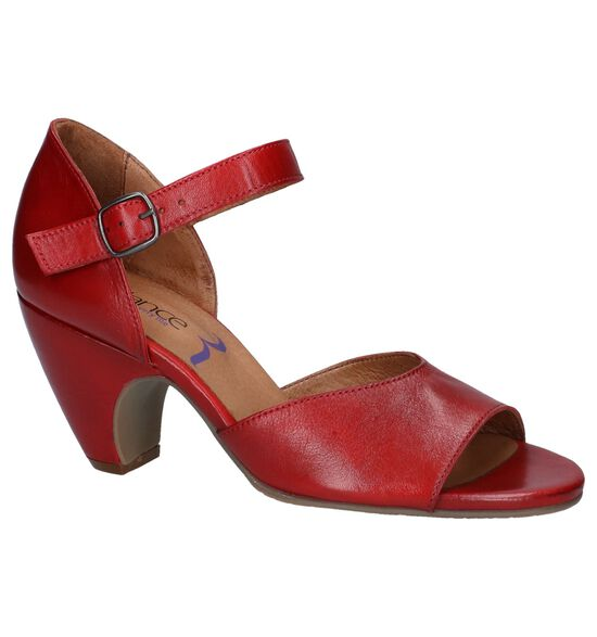 Relance Sandales à talons en Rouge foncé
