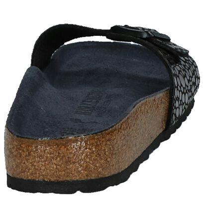 Birkenstock Madrid Zwarte Slippers in kunstleer (271260)