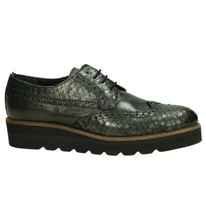 Tine's Chaussures à lacets en Noir en cuir (185550)