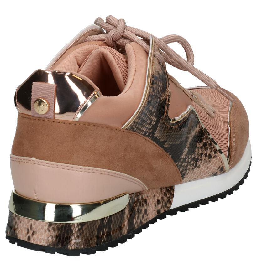 La Strada Chaussures à lacets en Rose en simili cuir (276487)