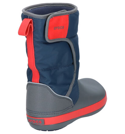 Grijze Snowboots Crocs Lodgepoint in stof (224403)